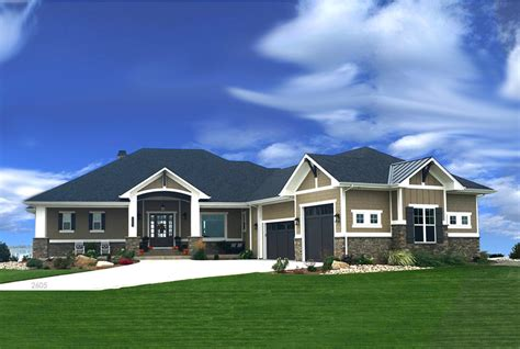 2 Bedrm, 2605 Sq Ft Craftsman House Plan #194 1010