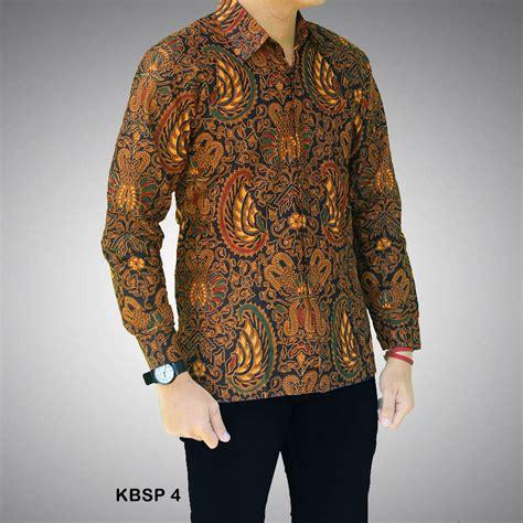 Kemeja Sogan Batik kemeja batik sogan pria kbsp 4 batik prasetyo