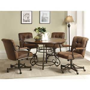 Dining Table With Rolling Chairs Rolling Chairs Dining Set Insurserviceonline