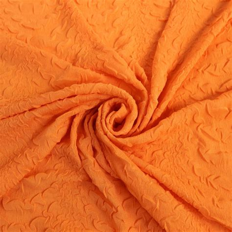design your own jersey knit fabric orange puckered jersey knit fabric by the yard 1 yard style