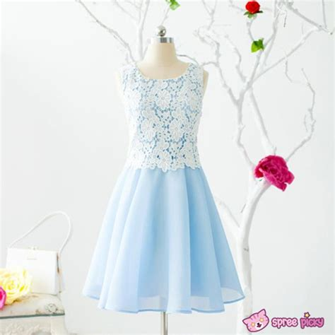 Blue Sweet Soft S M L Xl Dress 30396 s xl blue soft afternoon dress sp151813