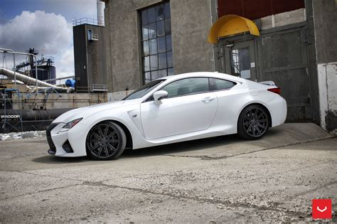 rcf lexus white white lexus rcf on vossen wheels has the look of a cult