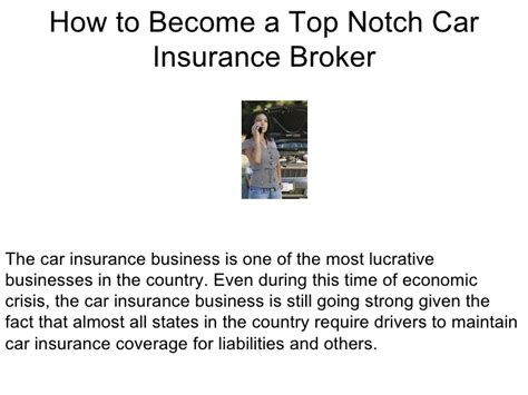 how to become a top notch car insurance broker