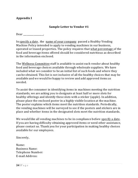 Sle Letter Vending Machine Healthy Vending Toolkit