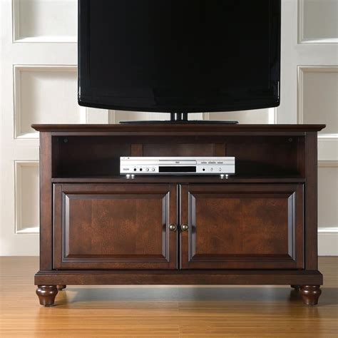 mahogany tv cabinet with doors shop crosley furniture cambridge vintage mahogany tv