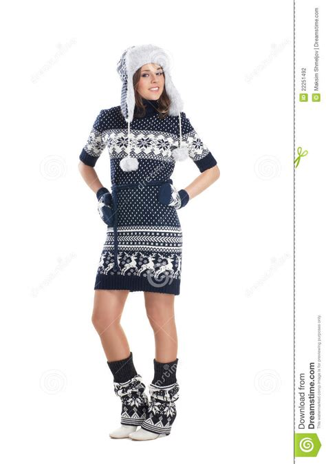 attractive in scandinavian clothes stock
