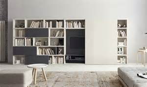 bookcase with tv space contemporary living room wall units and libraries ideas