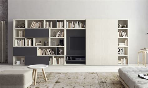 How To Decorate Bookshelves In Living Room Contemporary Living Room Wall Units And Libraries Ideas