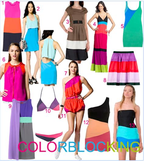 color blocking color block fashion trend alert