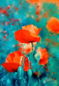 poppy color quot poppies quot abstract by rosalin color