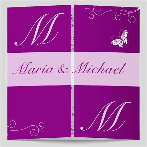 Hochzeitseinladungen Violett by Altarfalz Hochzeitseinladung Das Gro 223 E Flattern Violett