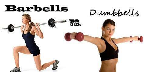 dumbbell bench vs barbell barbells vs dumbbells home fitness equipment