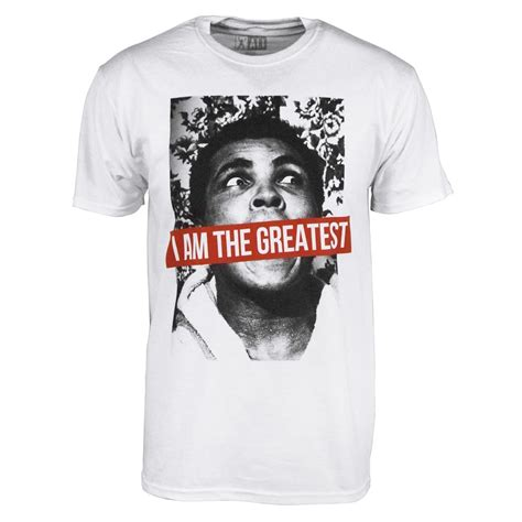 Cassius Clay Tshirt Baju mens muhammad ali i am the greatest t shirt white buy menswear from honcho sfx uk store