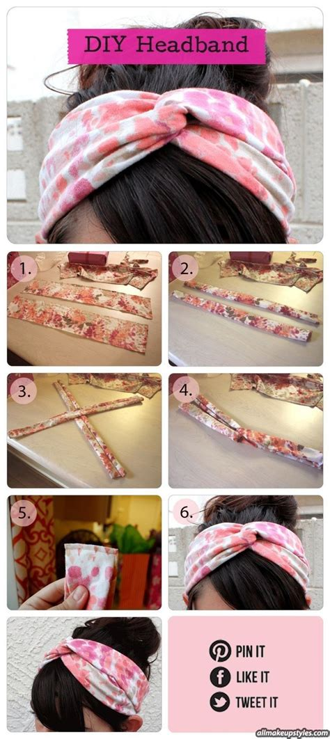 Handmade Headband - new idea to make diy bands using simple wasted cloths