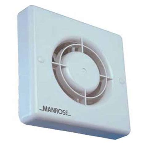 bathroom timer manrose xf100t 100mm extractor fan with adjustable electronic timer for bathroom