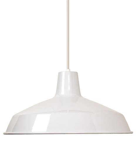 Nuvo Lighting Sf76 661 Warehouse Shade Brushed Nickel Pendant Light White