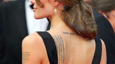 tattoo von angelina jolie bedeutung die tattoos der stars bild 30 n joy xtra entertainment