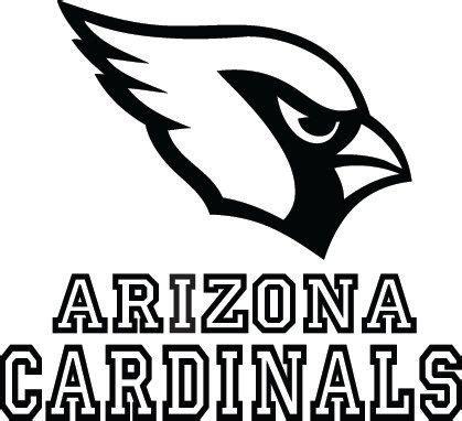 nfl cardinals coloring pages arizona cardinals football logo name custom vinyl by