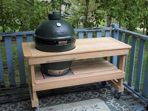big green egg table made by bge tables4less on ebay
