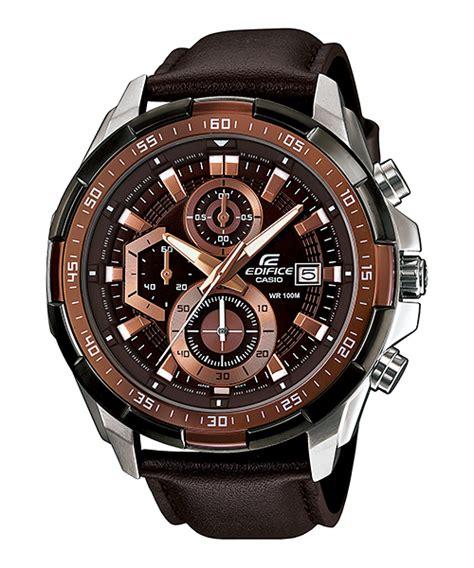 Promo Casio Edifice Ef539 Black Leather efr 539l 5av standard chronograph edifice timepieces casio