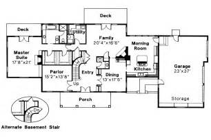 Colonial Home Floor Plans Colonial House Plans Clairmont 10 041 Associated Designs