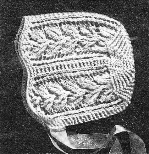 vintage knitting pattern baby bonnet vintage bonnet mittens and bootees knitting patterns