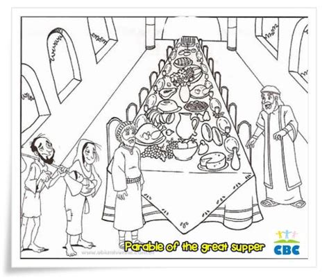 Coloring Page Matthew 22 by Matthew 22 1 14 Parable Of The Wedding Feast Coloring