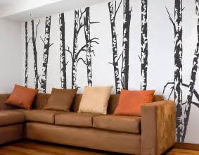 Birch Tree Wall Stickers Silver Birch Trees Vinyl Wall Sticker Contemporary Wall