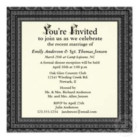 post wedding reception wording exles 1000 images about wedding reception on