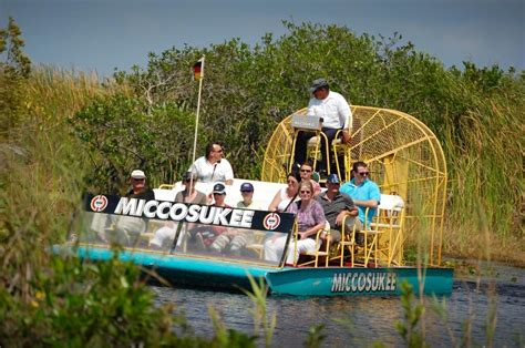 everglades boat tours near naples miccosukee indian village airboat ride through the