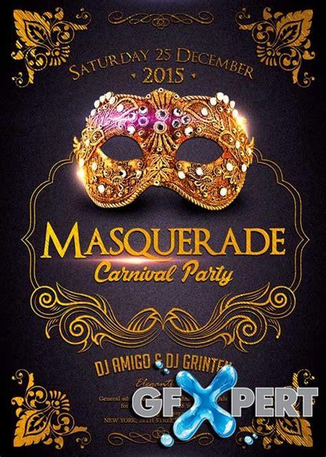 masquerade poster template free masquerade carnival flyer template