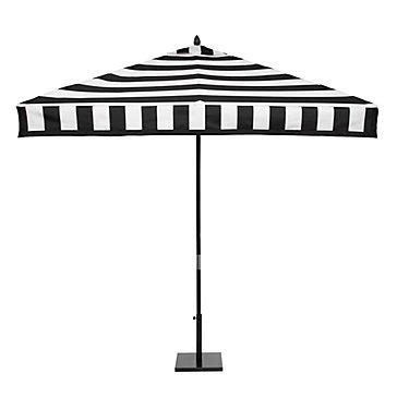 For The Shady Lady Z Gallerie S Exclusive Black And White Black And White Striped Umbrella Patio