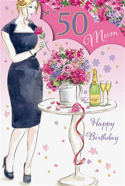 Mum 50th Birthday Card