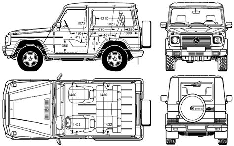G Wagon Sketches by G Class Chassis Drawings Mercedes Forum