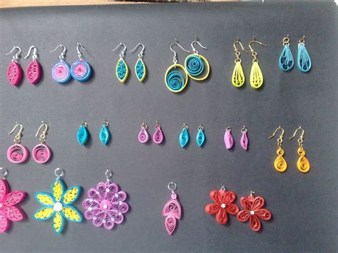 Jewellery With Quilling Paper - sathyacraft quilled jewellery