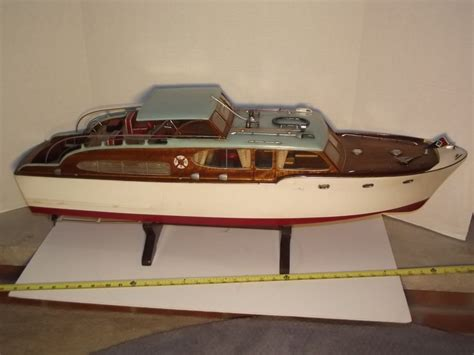 Handmade Boats - 36 quot chris craft vintage handmade wooden boat model ship