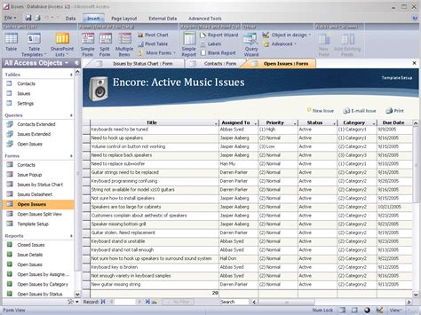 Microsoft Office Access new user interface for office 12 applications