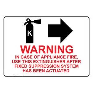 Kitchen Fire Extinguisher by Food Safety Kitchen Signs Kitchen Safety