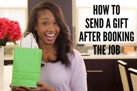 send a gift how to send a gift after you book a acting resource guru