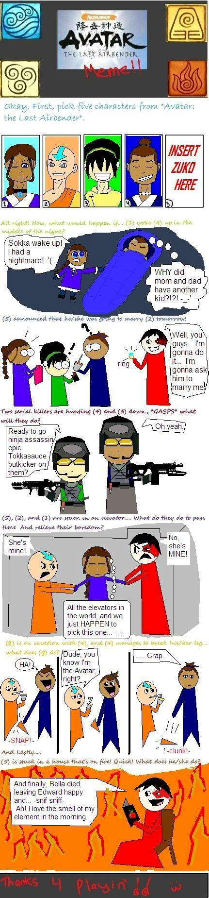 Avatar The Last Airbender Memes - avatar last airbender meme by katara7 on deviantart