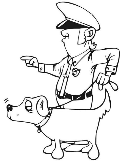 pictures policeman  dog coloring pages coloring pages