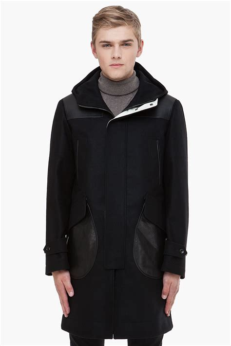 Hoodie The Eleventh Patch mcqueen leather patch coat in black for lyst