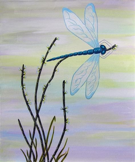 Austin Home Decor custom dragonfly 1 child wall art owl painting not a