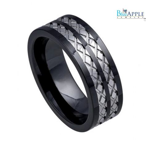8mm band ring his hers wedding engagement unisex