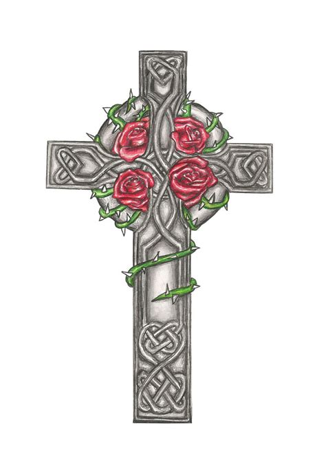 pics of celtic cross tattoos celtic cross design commision by laurenroseox on