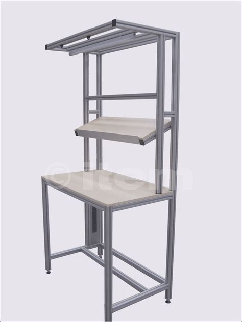 Workbench With Shelf by Work Benches Industrial Custom Made Aluminium Work Benches