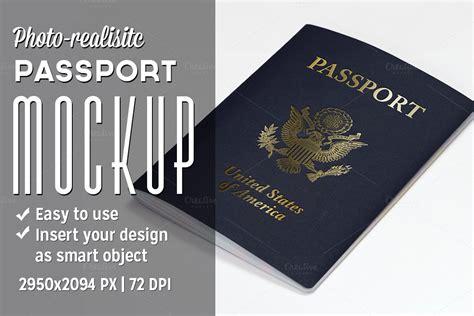 Passport Mockup Product Mockups On Creative Market Passport Invitation Template Photoshop