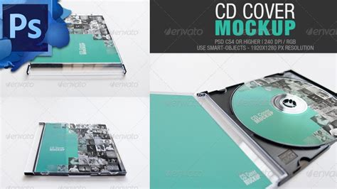 Cd Cover Free Download Mockup Youtube Cd Mockup Template