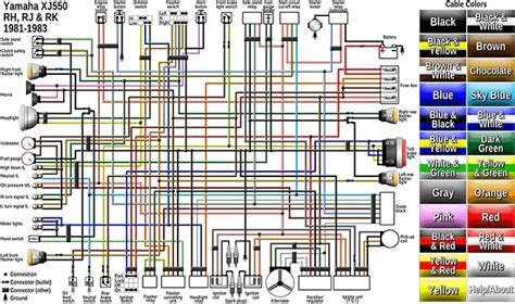wiring diagram for a 82 yamaha maxim 550 the yamaha xj 550 fully interactive electrical diagram