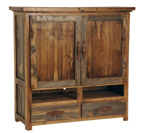 small armoire for tv rustic reclaimed wood furniture sustainable furniture